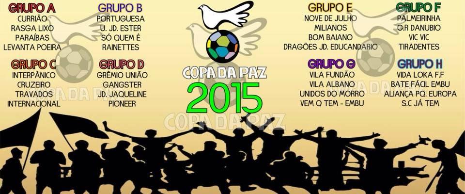 Começa neste sábado a Copa da Paz 2015