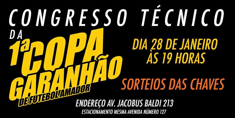 Congresso técnico da Copa Garanhão é amanhã
