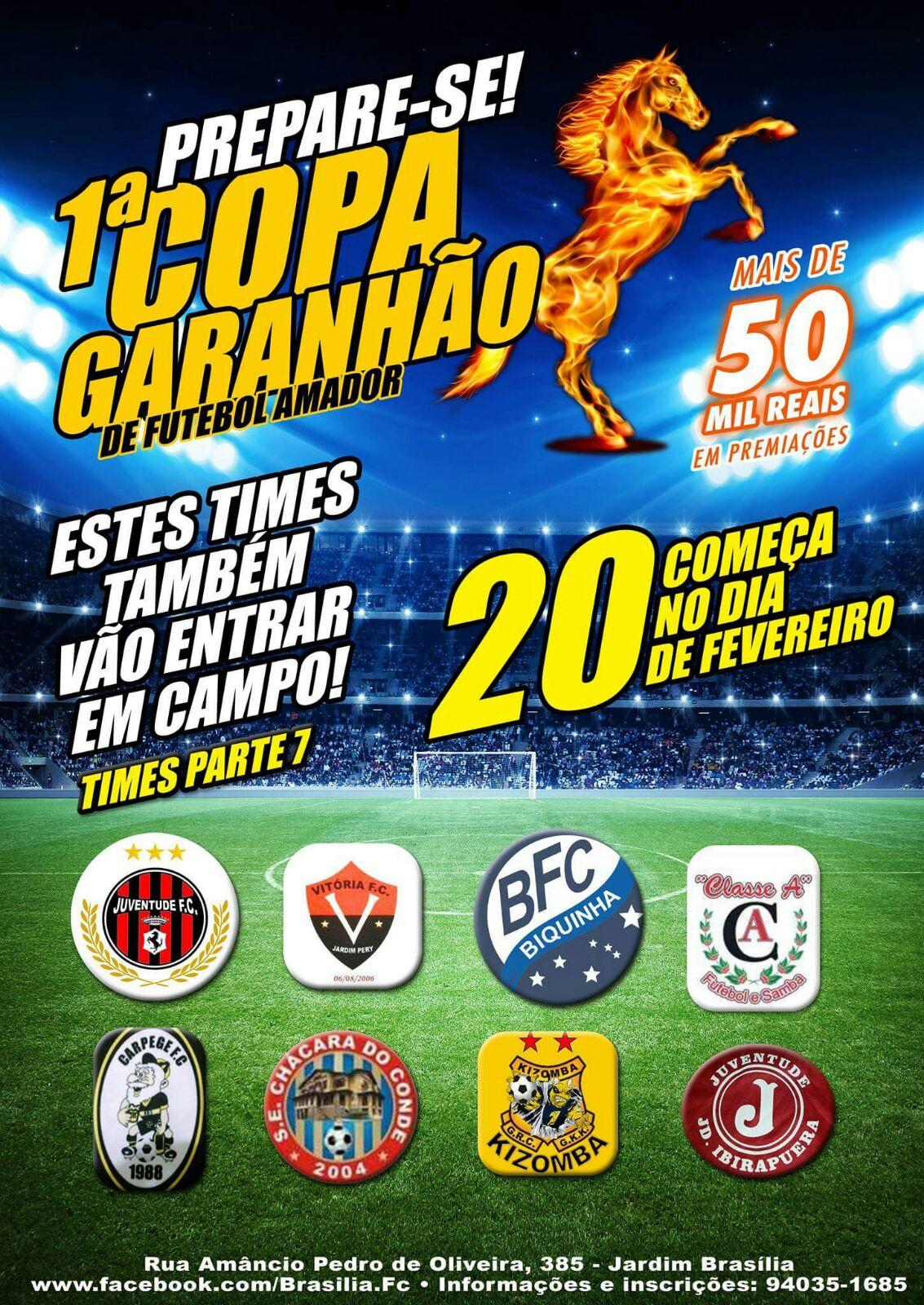 Definidos os 64 times da 1ª Copa Garanhão