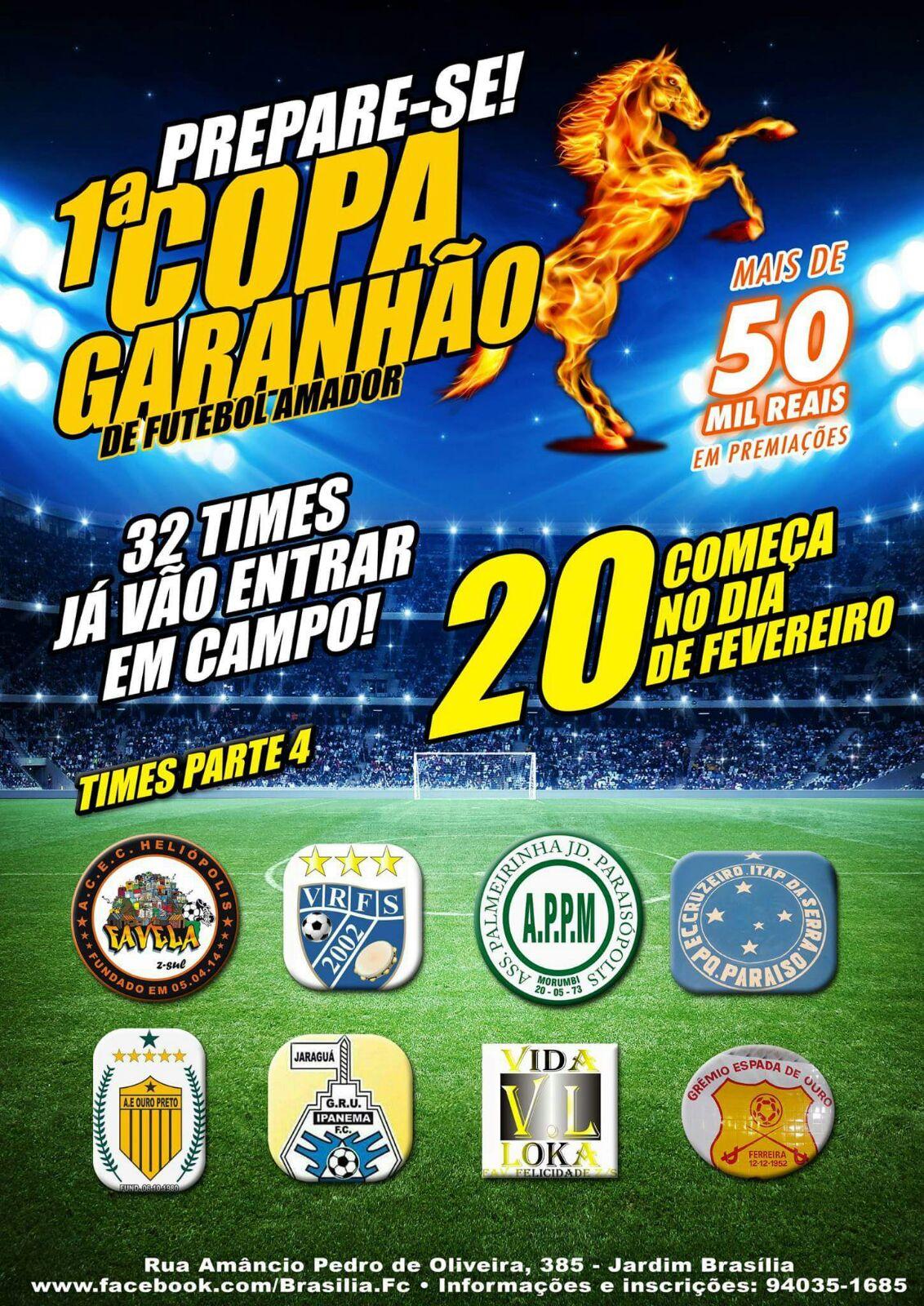 47 times garantidos na 1ª Copa Garanhão