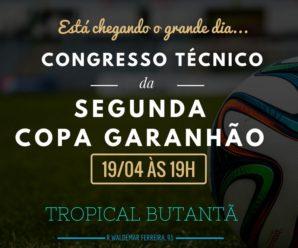 Congresso da Copa Garanhão 2017 acontece nesta quarta-feira
