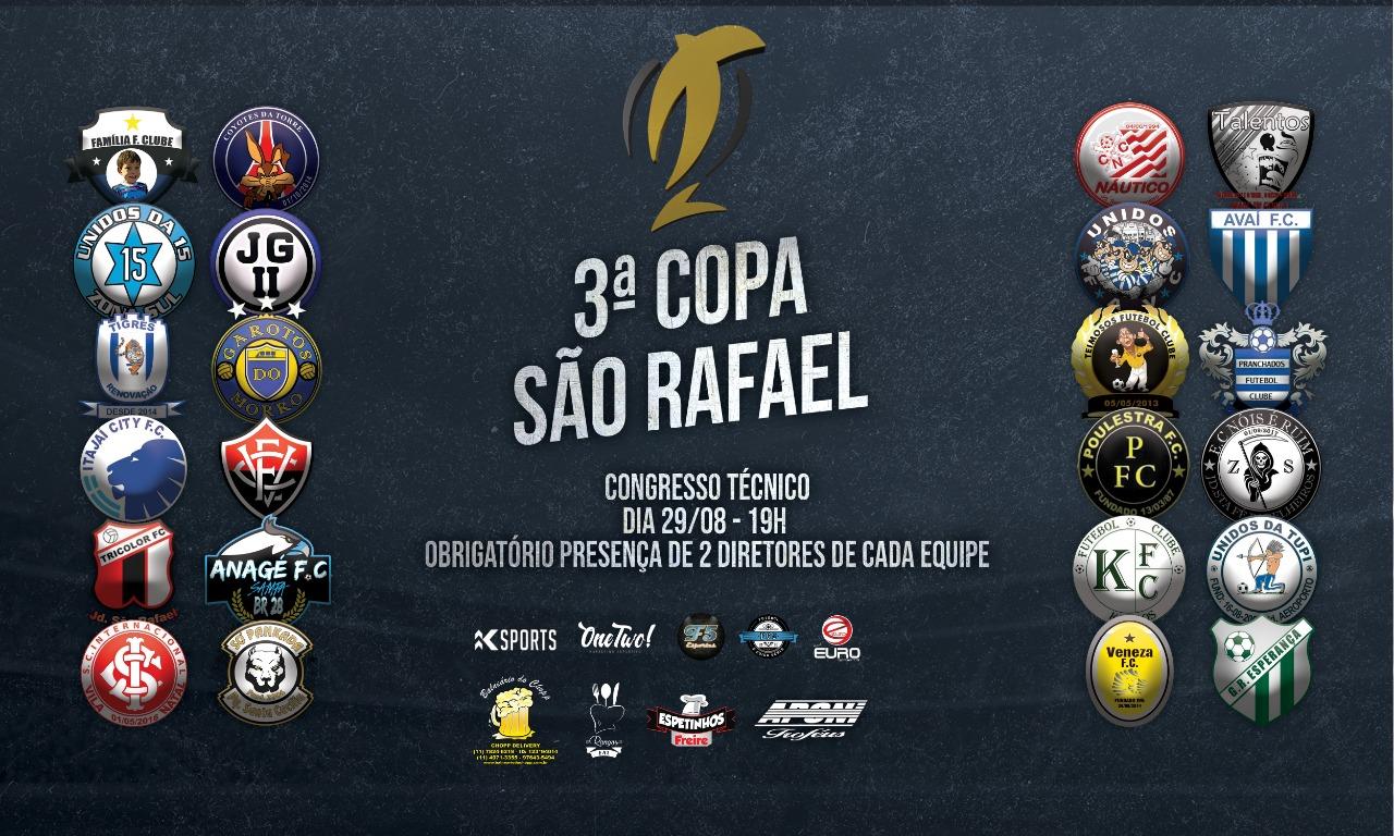 Definidos os grupos da 3ª Copa São Rafael de Futebol Amador